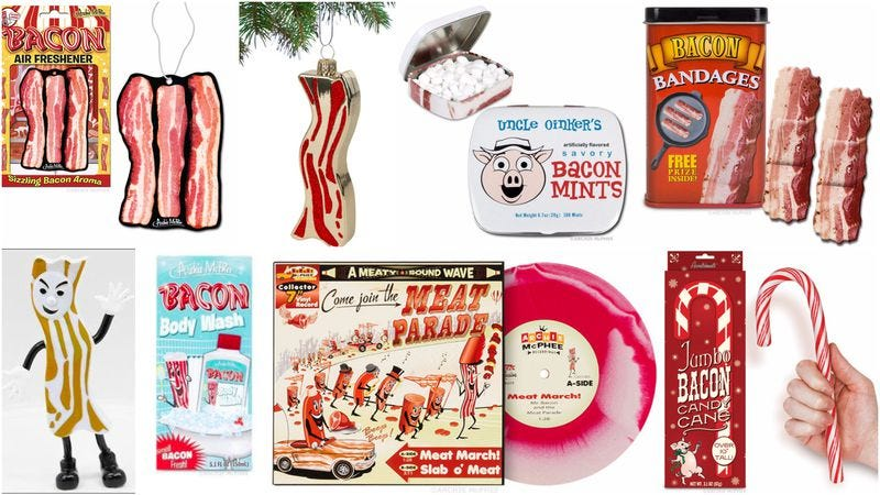 Illustration for article titled The godfather of bacon novelty gifts explains his unlikely success