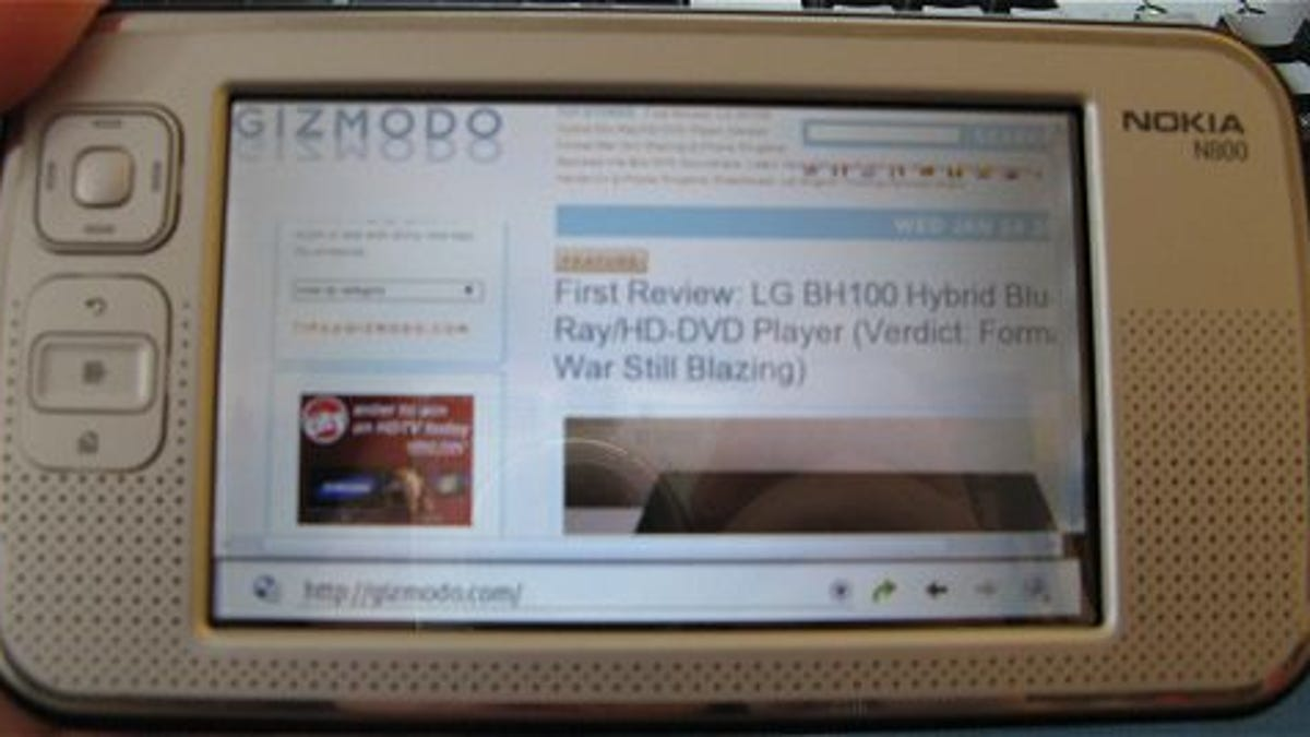 Nokia N800 Internet Tablet Reviewed (Verdict: Great For The Price)