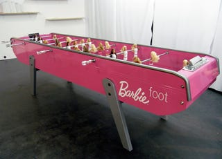 Illustration for article titled Barbie Foosball Creeps Me Out While Simultaneously Exciting Me