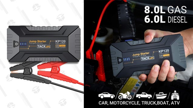 Get a TACKLIFE 1200A Car Jump Starter for a Low $49