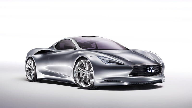 Illustration for article titled Photos Of Electric Infiniti Emerge-E Reveal Sleek Concept Supercar