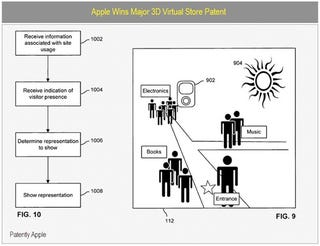 Illustration for article titled Apple Patent Shows A 3D Virtual World For Buying Their Goods In