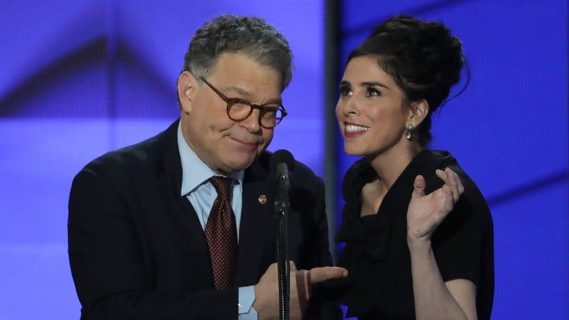 Silverman with comedian and former Democratic Senator Al Franken at the 2016 Democratic National Convention.