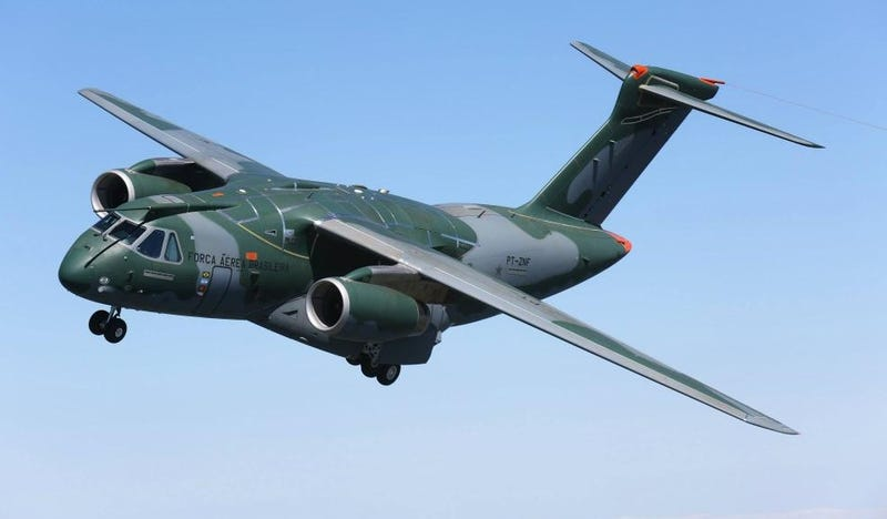 Illustration for article titled Embraer's KC-390 Multi-Role Transport Has Flown For The First Time