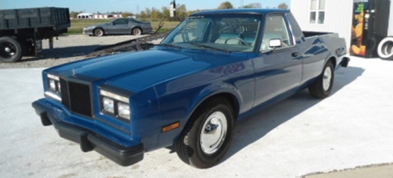 This 1985 chrysler crapbox got turned into a pretty nice pickup truck