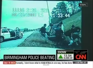 Dashboard camera video showing Anthony Warren being beaten by police officersCNN screenshot