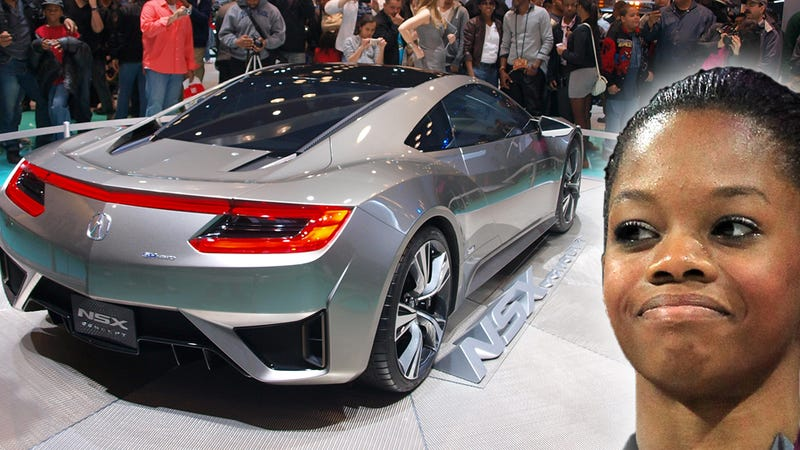 Gabby douglas wants the avengers acura nsx for Nice pipes net worth
