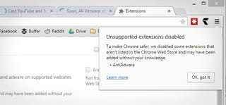 Illustration for article titled Soon, All Versions of Chrome Will Block Non-Web-Store Extensions
