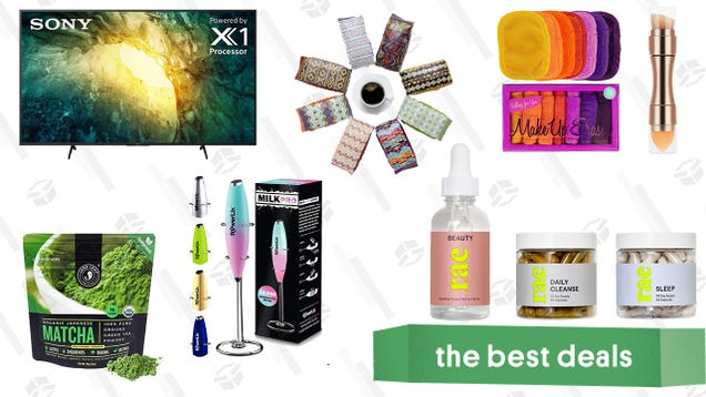 Sunday s Best Deals: 65-inch Sony Smart TV, Free Atlas Coffee, Original MakeUp Eraser Set, Rae Vitamins and Dietary Supplements, Matcha Organic Green Tea, and More