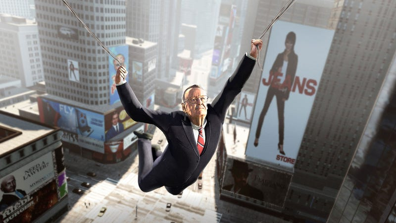 Illustration for article titled Amazon-Exclusive Spider-Man Preorder Bonus Lets You Play as the Amazing Stan Lee