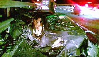 Illustration for article titled Driver miraculously survives 199 mph supercar crash