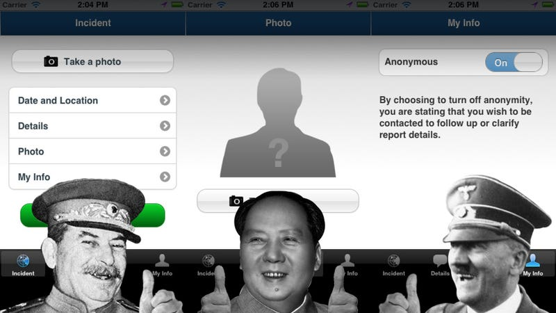 Illustration for article titled The App That Turns You Into a Government Informant