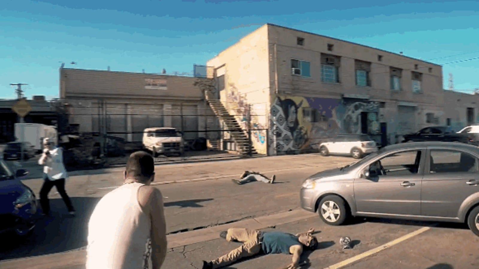 Esta genial versión de GTA V rodada con GoPro es casi idéntica al juego