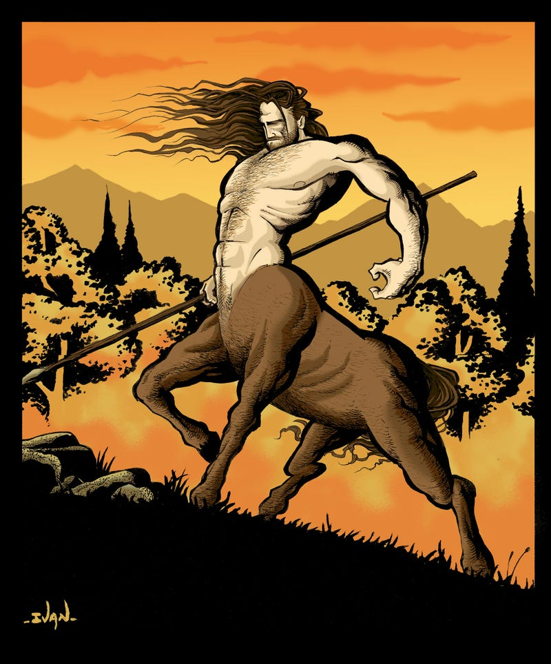 Illustration for article titled Centaurs on deviantART (slightly, tastefully NSFW)