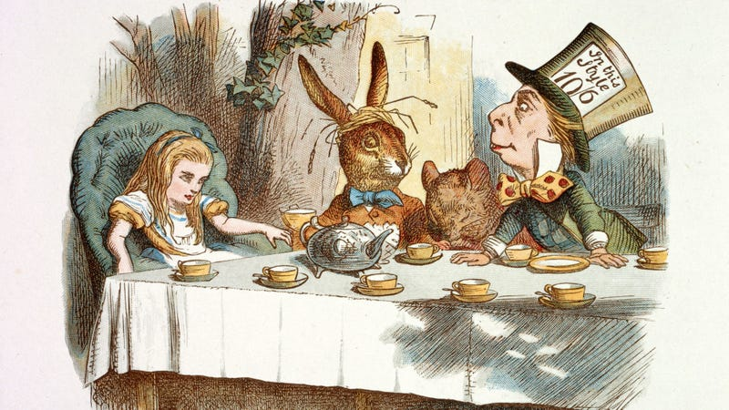 How to throw 364 parties a year. Illustration by John Tenniel