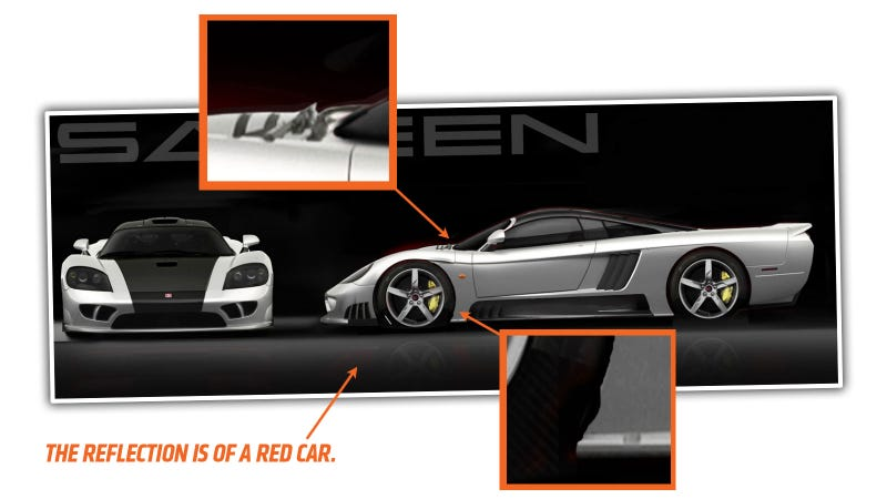 Illustration for article titled Saleen's Picture Of Their New S7 LM Is An Amazingly Shitty Photoshop