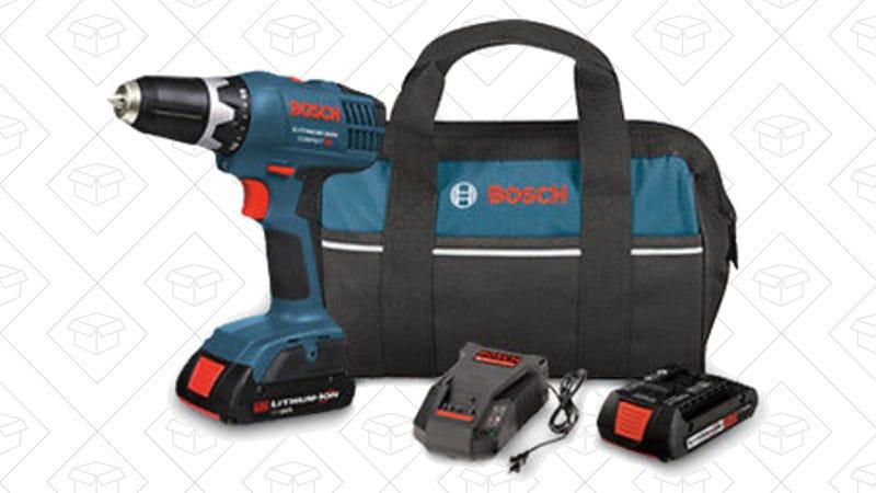 Bosch 18V Drill/Driver Kit, $75