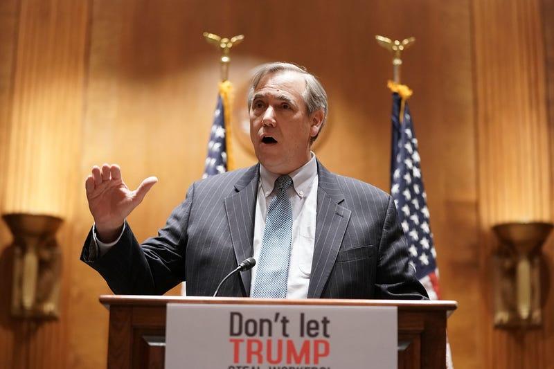 Sen. Jeff Merkley (D-Ore.) in Washington, D.C., in December 2017