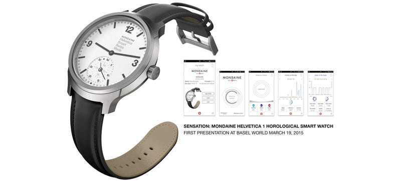 Illustration for article titled You'd Never Know This Stylish Helvetica Watch Is a Fitness Tracker