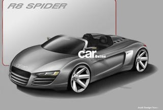 Illustration for article titled Report: Smuggled Audi Sketches Show Proto R8 Spider, A1