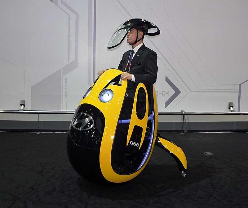 Hyundai presenta su nuevo modelo de transporte personal, un huevo motorizado