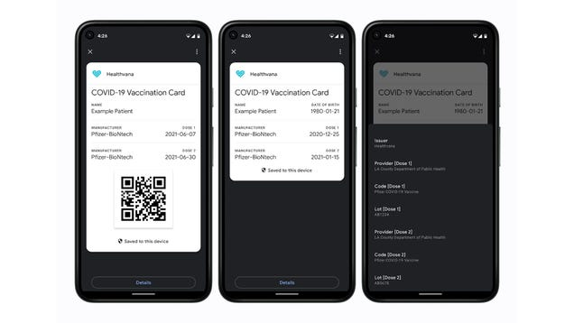 Google Is Adding Support for Digital Covid-19 Vax Cards Into Android