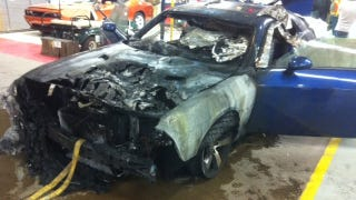 Illustration for article titled Dodge Challenger burns to a crisp on assembly line