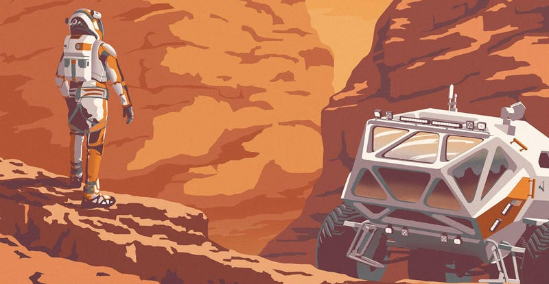 Illustration for article titled Check Out This Fantastic Poster For The Martian's IMAX Release