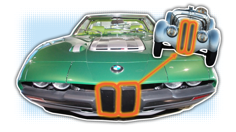 Illustration for article titled Bertone Once Created What May Be the Funniest Take on BMW's Kidney Grilles