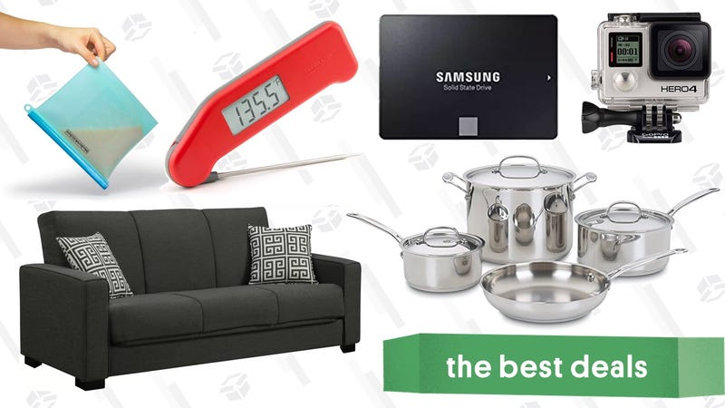Illustration for article titled Saturday's Best Deals: Wayfair Sale, 15% off Thermoworks, 1TB SSD, and More