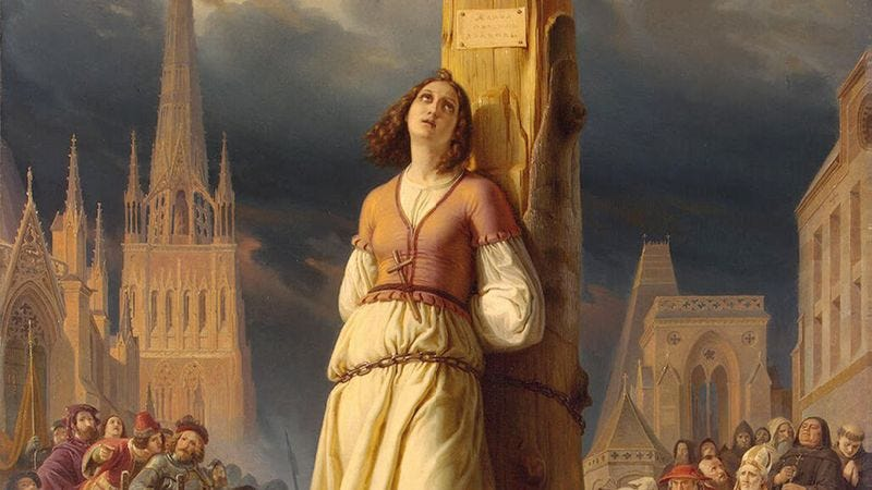 Illustration for article titled Ready To Feel Like A Failure? Joan Of Arc Was Only 19 When She Was Burned At The Stake