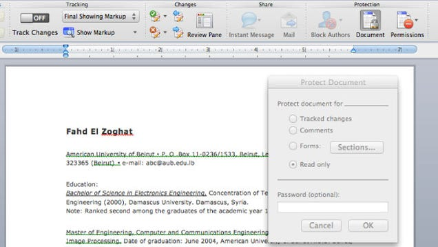 make your resume and other word documents more presentable by making