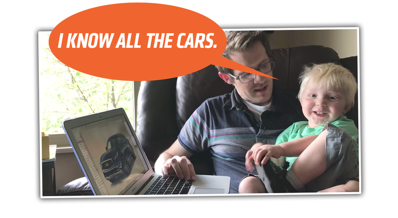 Illustration for article titled This Adorable One-Year-Old Kid Can Name All The Cars