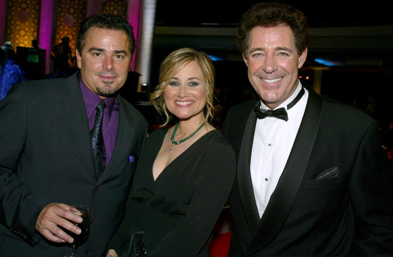 Actors Christopher Knight, Maureen McCormick and Barry Williams circa 2003