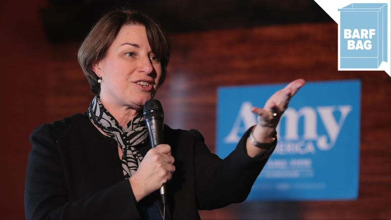 Illustration for article titled Amy Klobuchar Made a Choice and Ate Her Salad With a Comb