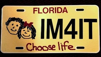 Illustration for article titled Fighting For The Right To Choose ... Anti-Choice License Plates