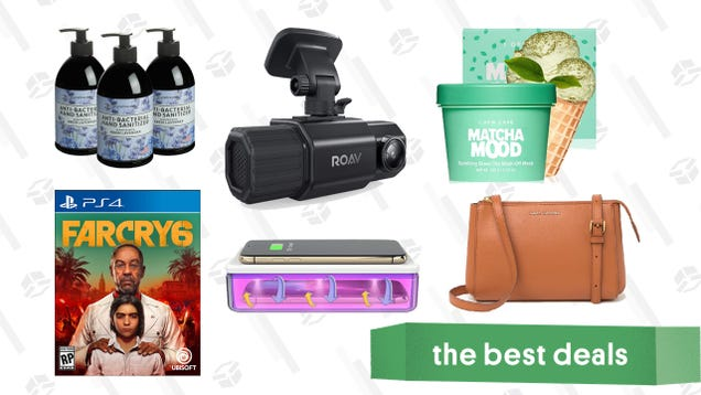 Thursday's Best Deals: Hand Sanitizer, Far Cry 6, Anker Roav Dash Cam, Marc Jacobs Crossbody Bags, Nordstrom Rack Home Sale, and More