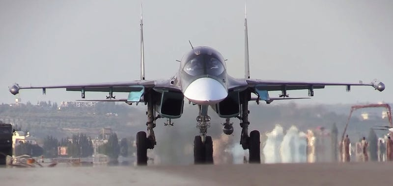 Illustration for article titled First Video Report From Russia's Air Base In Syria Shows Su-34s In Action