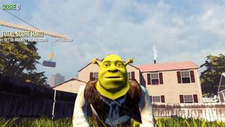Illustration for article titled Shrek Mod for Goat Simulator Breaks the Game Even More