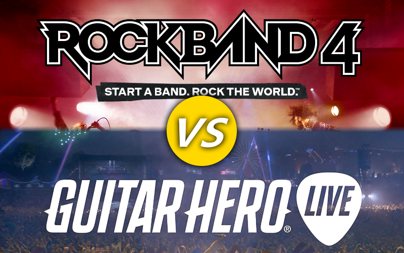 Illustration for article titled Rock Band 4 vs. Guitar Hero Live: Which Should You Get?