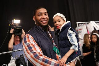 NFL player Devon Still and his daughter, Leah, Feb. 12, 2015, in New York CityCindy Ord/Getty Images for Mercedes-Benz Fashion Week