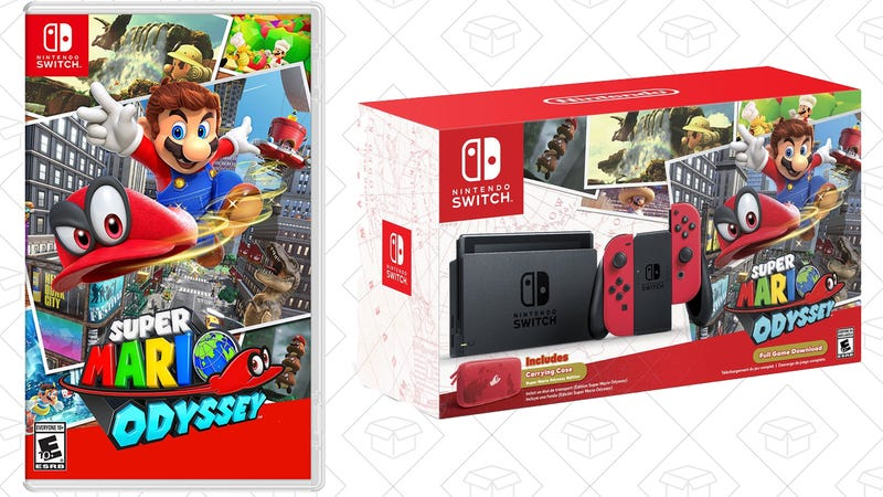 Super Mario Odyssey, $48 for Prime MembersNintendo Switch, $300Nintendo Switch - Super Mario Odyssey Edition, $380