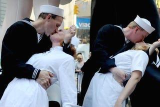 Illustration for article titled 70 év után újra matrózok zaklattak ápolónőket a Times Square-en