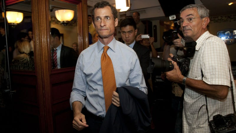 Weiner in 2013 after conceding the mayoral race. Photo via AP
