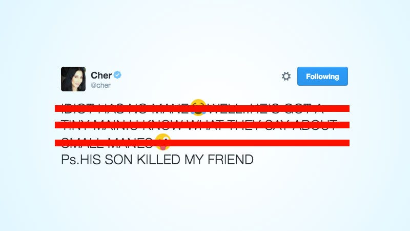 Illustration for article titled Cher Just Accused Donald Trump's Son of Killing Her Friend