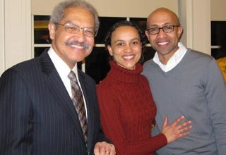 From left: Manning Marable, Adrienne Clay and Russell Rickford (John Rickford)