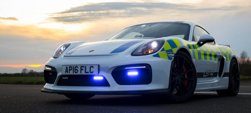 Illustration for article titled This Porsche Cayman GT4 Is A Police Car I Can Get Behind
