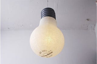 Illustration for article titled Giant Lightbulb Is Made of Paper