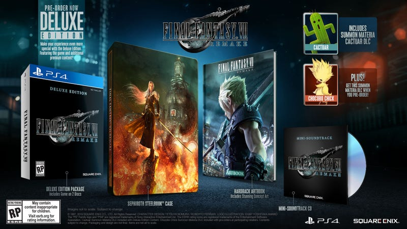 Final Fantasy VII Remake Deluxe Edition [PS4] | $56 | Amazon | Clip the coupon on page Final Fantasy VII: Remake (PS4) | $42 | Amazon | Clip the coupon on page