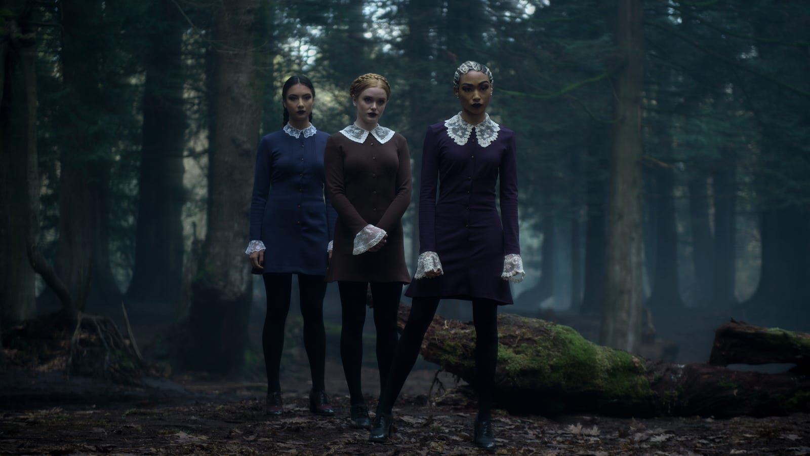 chilling adventures of sabrina 39 s weird sisters interview